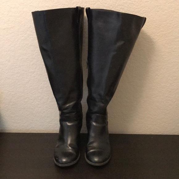 1c6223e617a dexflex comfort Shoes - Black knee high extra wide calf boots